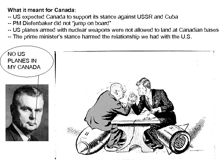 What it meant for Canada: -- US expected Canada to support its stance against
