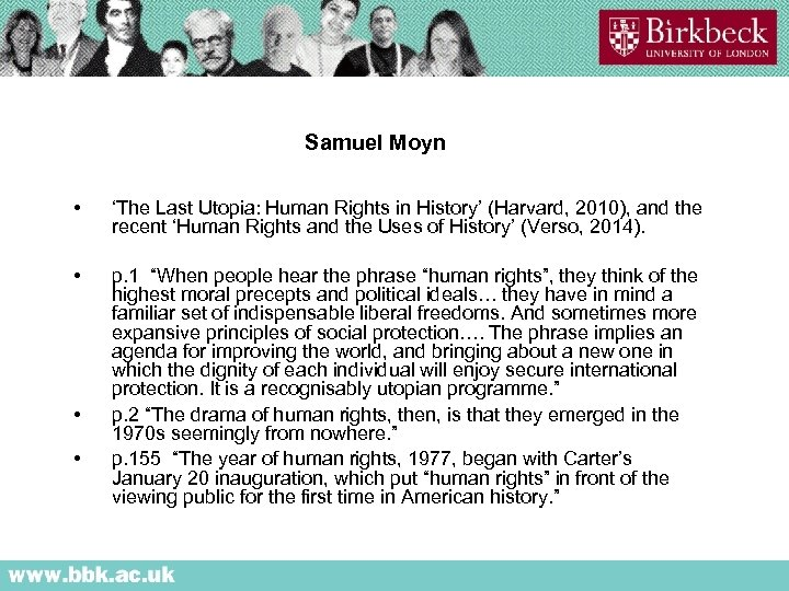 Samuel Moyn • 'The Last Utopia: Human Rights in History' (Harvard, 2010), and the