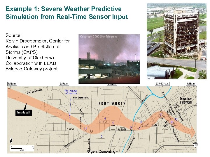 Example 1: Severe Weather Predictive Simulation from Real-Time Sensor Input Severe weather example Source: