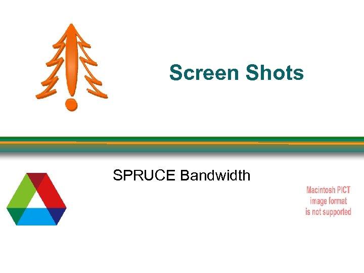 Screen Shots SPRUCE Bandwidth