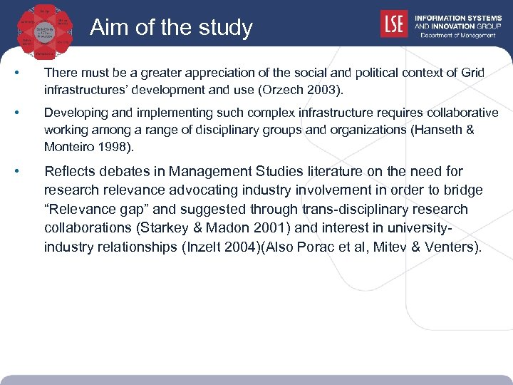 Aim of the study • There must be a greater appreciation of the social
