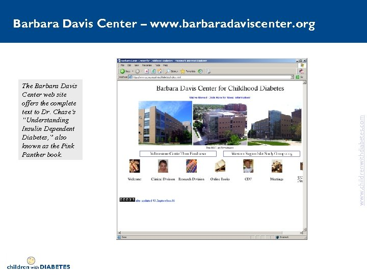 """The Barbara Davis Center web site offers the complete text to Dr. Chase's """"Understanding"""