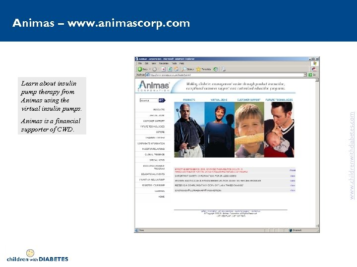 Learn about insulin pump therapy from Animas using the virtual insulin pumps. Animas is