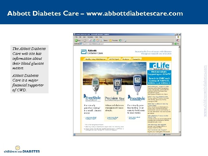The Abbott Diabetes Care web site has information about their blood glucose meters. Abbott