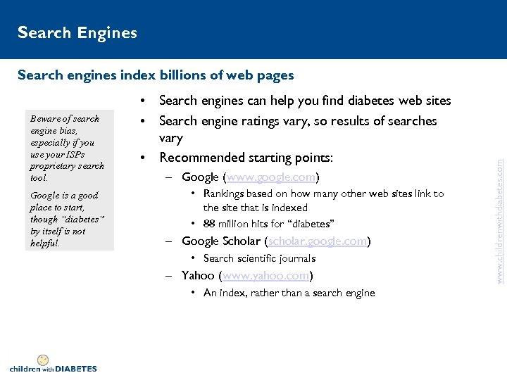 Search Engines Beware of search engine bias, especially if you use your ISPs proprietary