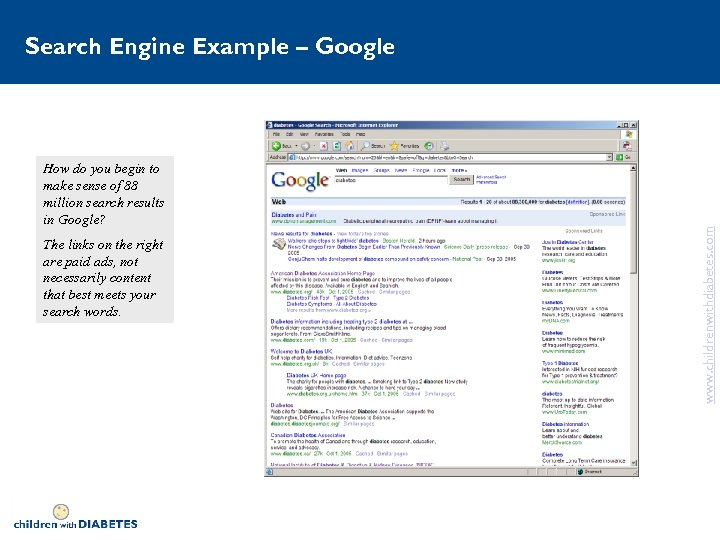 How do you begin to make sense of 88 million search results in Google?