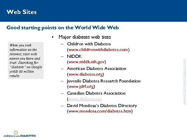 Web Sites Good starting points on the World Wide Web When you seek information