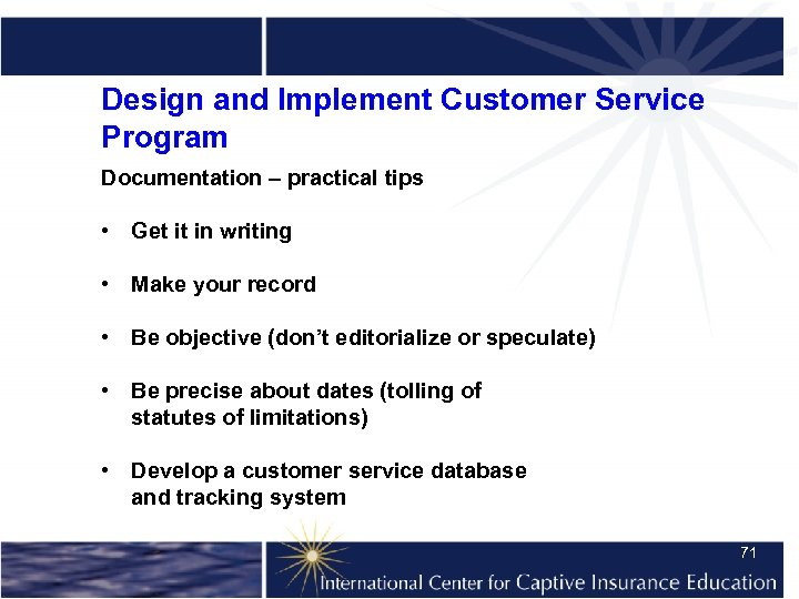 Design and Implement Customer Service Program Documentation – practical tips • Get it in