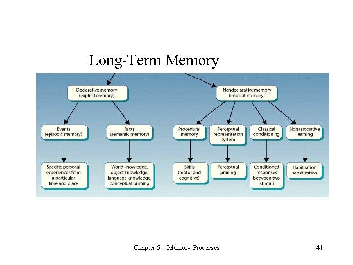 Long-Term Memory Chapter 5 – Memory Processes 41