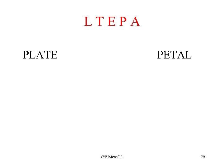 L T E P A PLATE PETAL GP Mem(1) 79