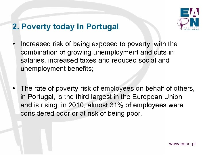 EAPN Capacity Building Meeting POVERTY IN THE EUROPEAN