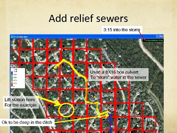 Add relief sewers 3: 15 into the storm Used a 8 X 16 box