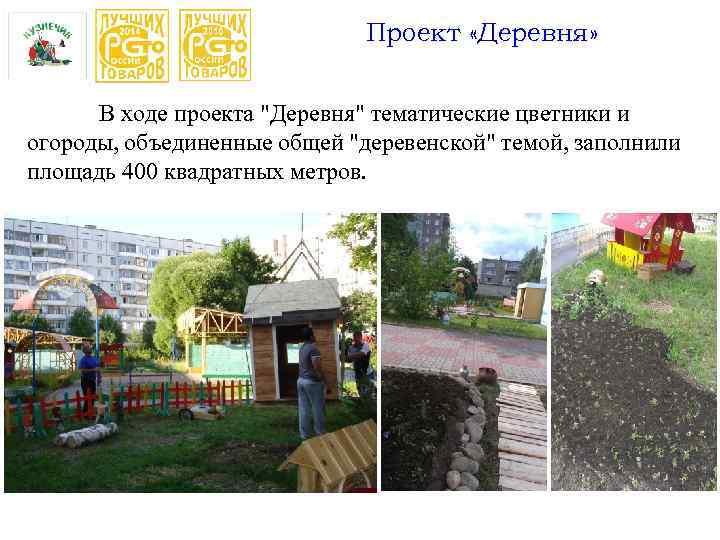 Проект «Деревня» В ходе проекта