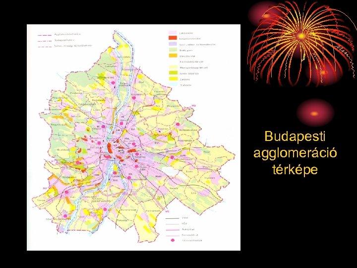 Budapesti agglomeráció térképe