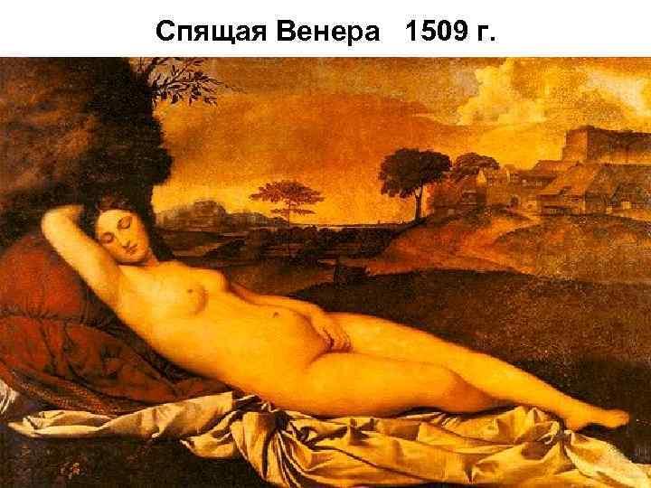Спящая Венера 1509 г.