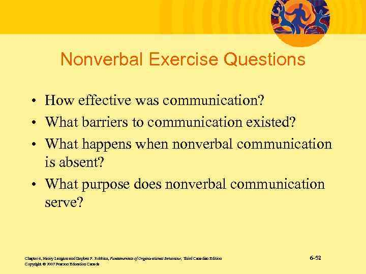 nonverbal communication excercise Non-verbal communication skills for selling managers use nonverbal communication to effectively lead other employees and team members business communication skills exercises pdf.