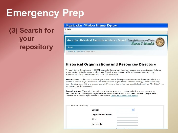 Emergency Prep (3) Search for your repository