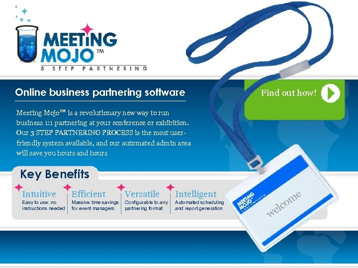 Online business partnering software Meeting Mojo. TM is a revolutionary new way to run
