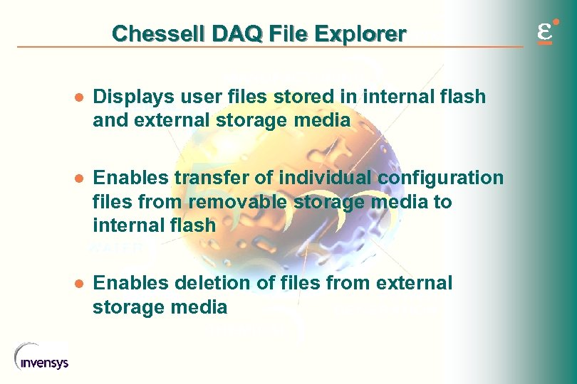 Chessell DAQ File Explorer l Displays user files stored in internal flash and external