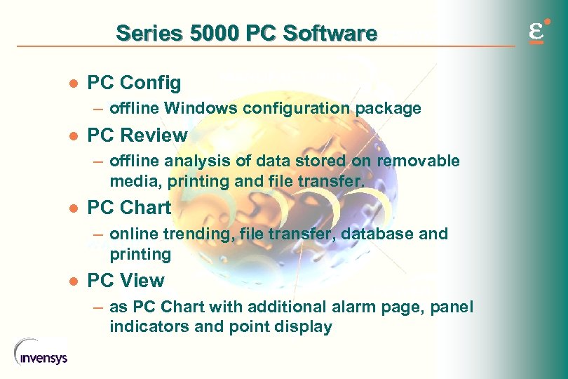Series 5000 PC Software l PC Config – offline Windows configuration package l PC