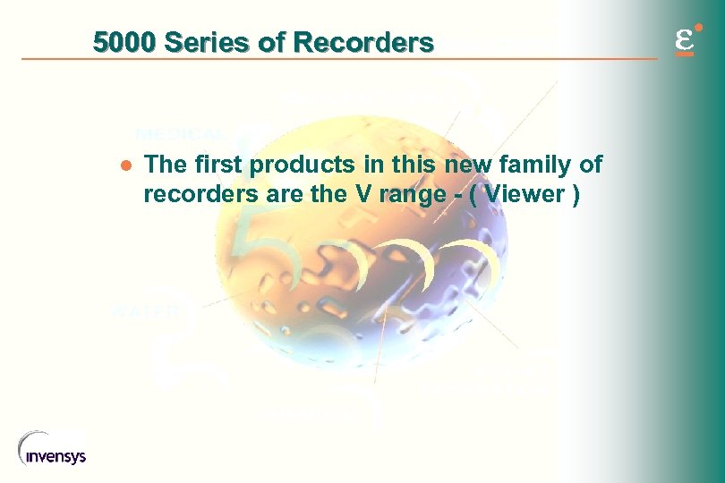 5000 Series of Recorders l The first products in this new family of recorders