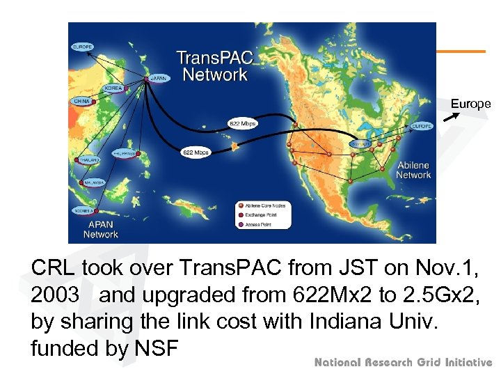 Europe CRL took over Trans. PAC from JST on Nov. 1, 2003 and upgraded