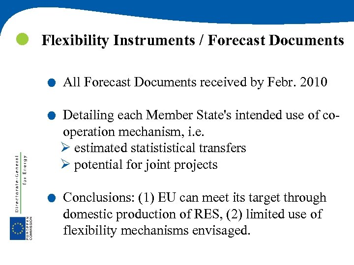 Flexibility Instruments / Forecast Documents . . . All Forecast Documents received by