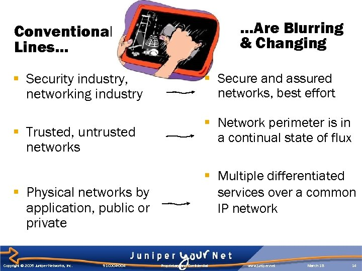 …Are Blurring & Changing Conventional Lines… § Security industry, networking industry § Trusted, untrusted