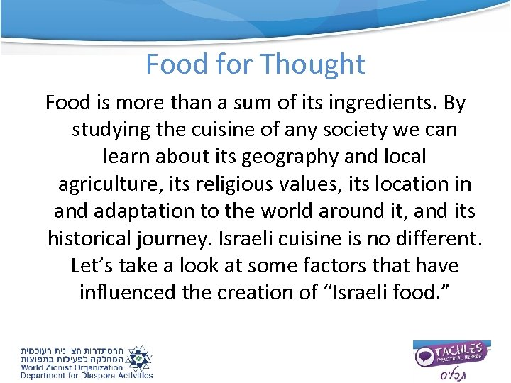 Food for Thought Food is more than a sum of its ingredients. By studying