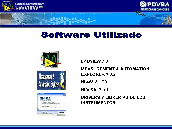 LABVIEW 7. 0 MEASUREMENT & AUTOMATION EXPLORER 3. 0. 2 NI 488. 2 1.