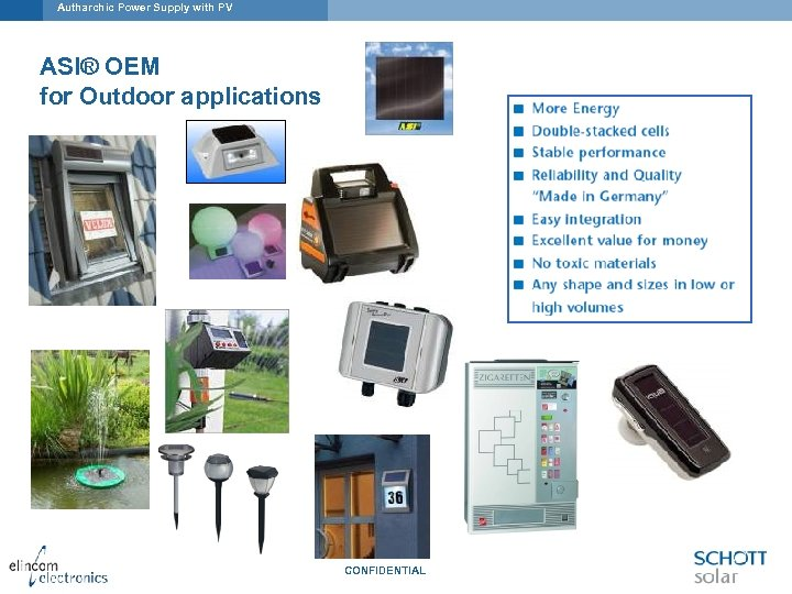Autharchic Power Supply with PV ASI® OEM for Outdoor applications CONFIDENTIAL