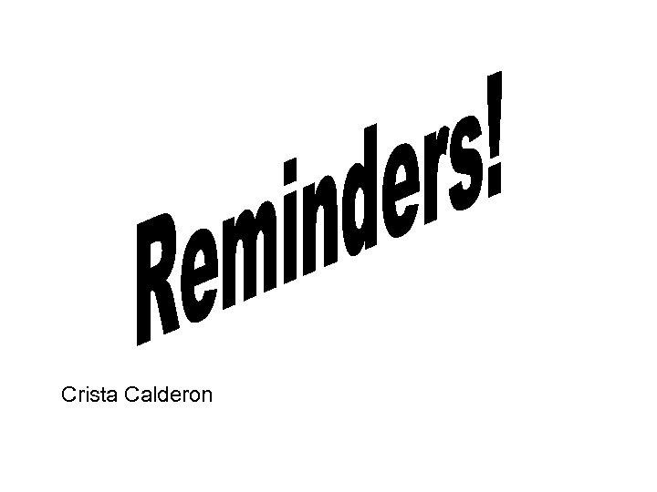 Crista Calderon
