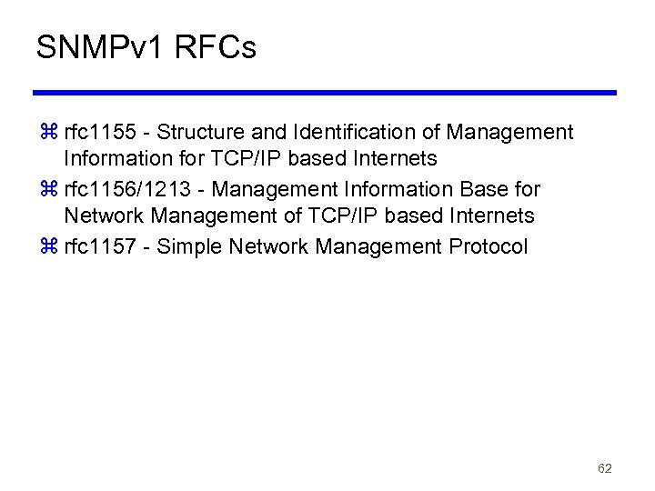 SNMPv 1 RFCs z rfc 1155 - Structure and Identification of Management Information for