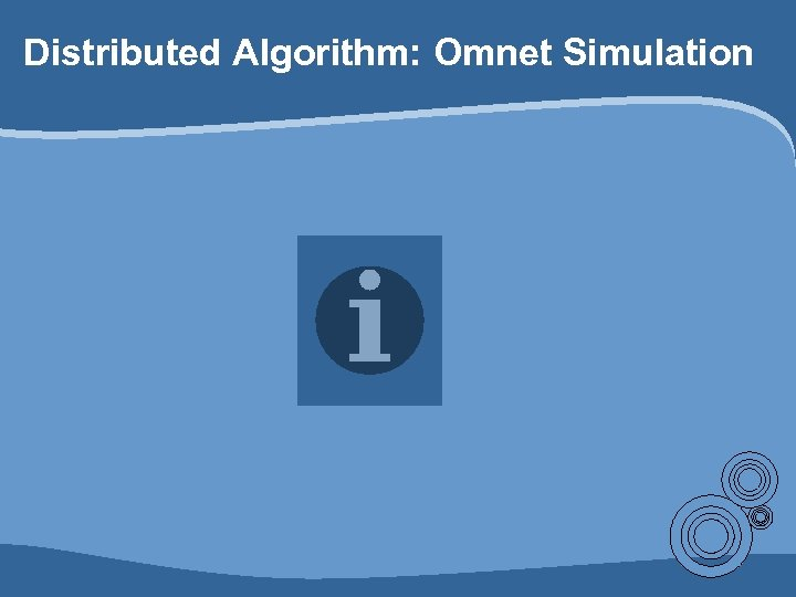 Distributed Algorithm: Omnet Simulation