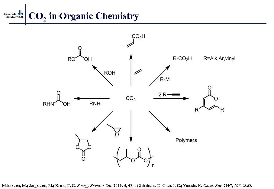 CO 2 in Organic Chemistry Mikkelsen, M. ; Jørgensen, M. ; Krebs, F. C.