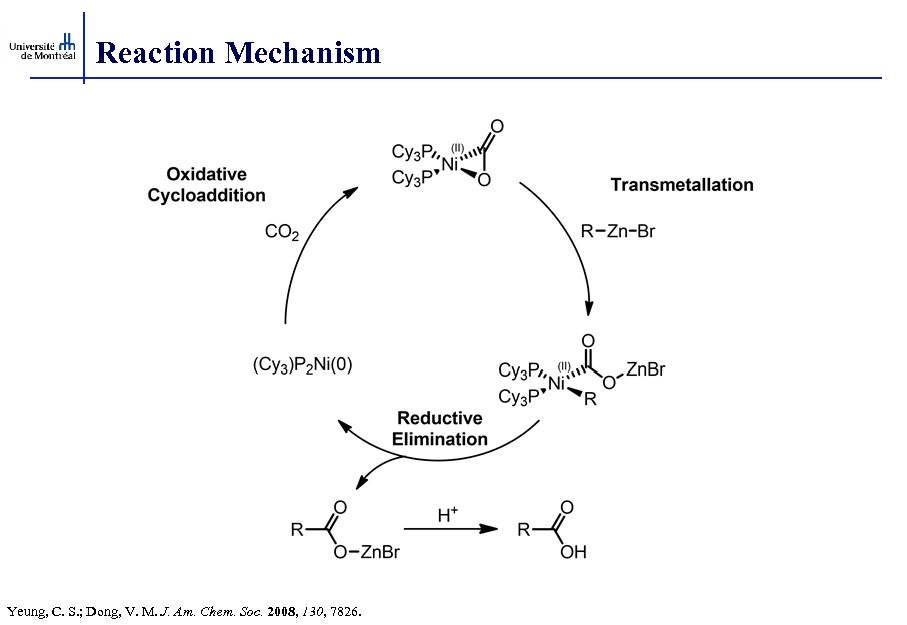 Reaction Mechanism Yeung, C. S. ; Dong, V. M. J. Am. Chem. Soc. 2008,