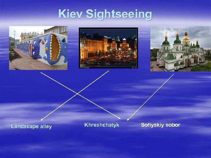 Kiev Sightseeing Landscape alley Khreshchatyk Sofiyskiy sobor
