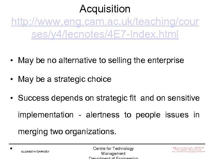 Acquisition http: //www. eng. cam. ac. uk/teaching/cour ses/y 4/lecnotes/4 E 7 -Index. html •