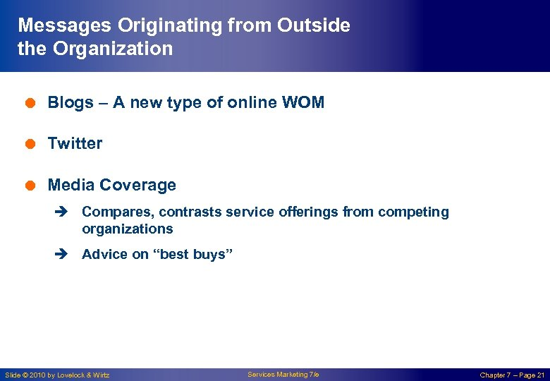 Messages Originating from Outside the Organization = Blogs – A new type of online