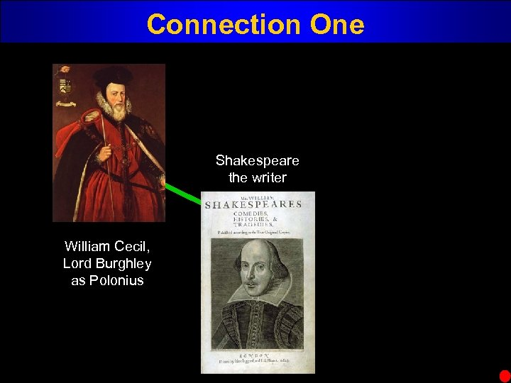 Connection One Shakespeare the writer William Cecil, Lord Burghley as Polonius