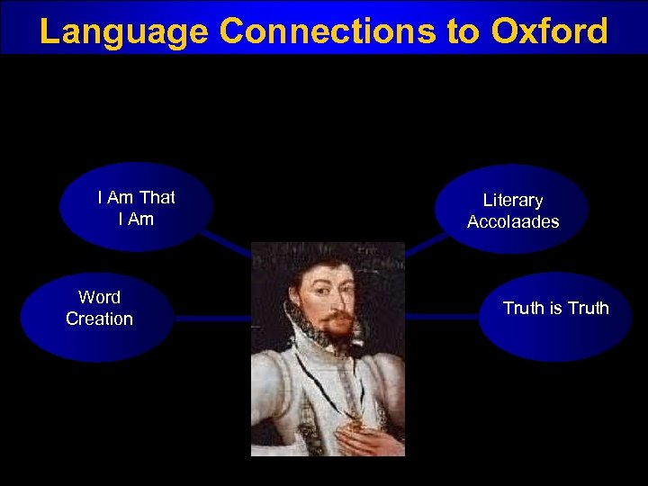 Language Connections to Oxford I Am That I Am Word Creation Literary Accolaades Truth