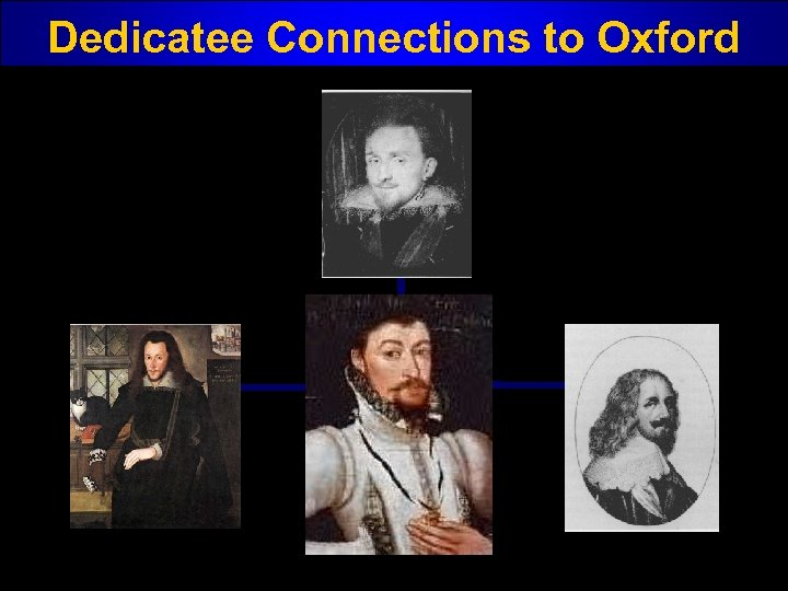 Dedicatee Connections to Oxford
