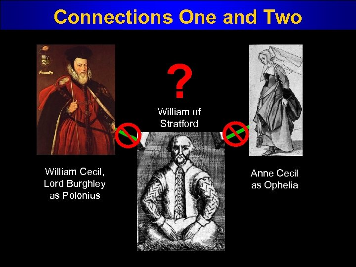 Connections One and Two ? William of Stratford William Cecil, Lord Burghley as Polonius