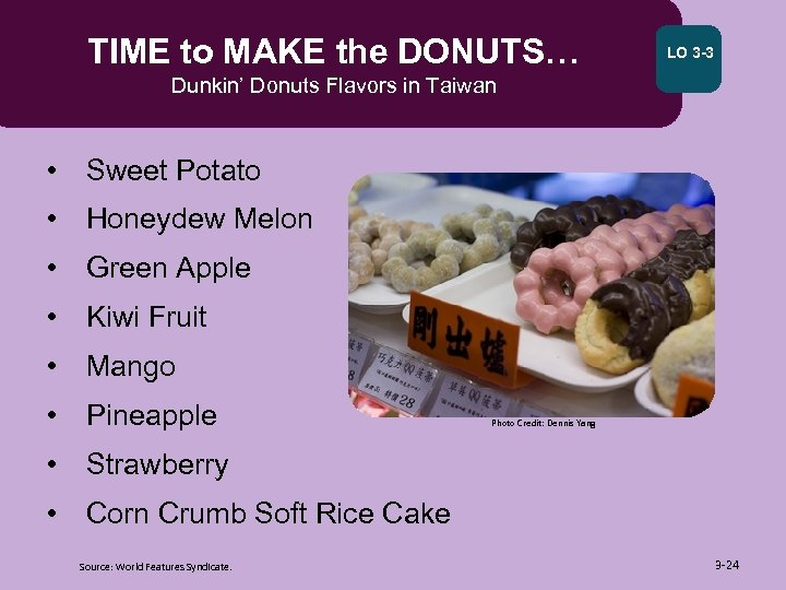 TIME to MAKE the DONUTS… LO 3 -3 Dunkin' Donuts Flavors in Taiwan •