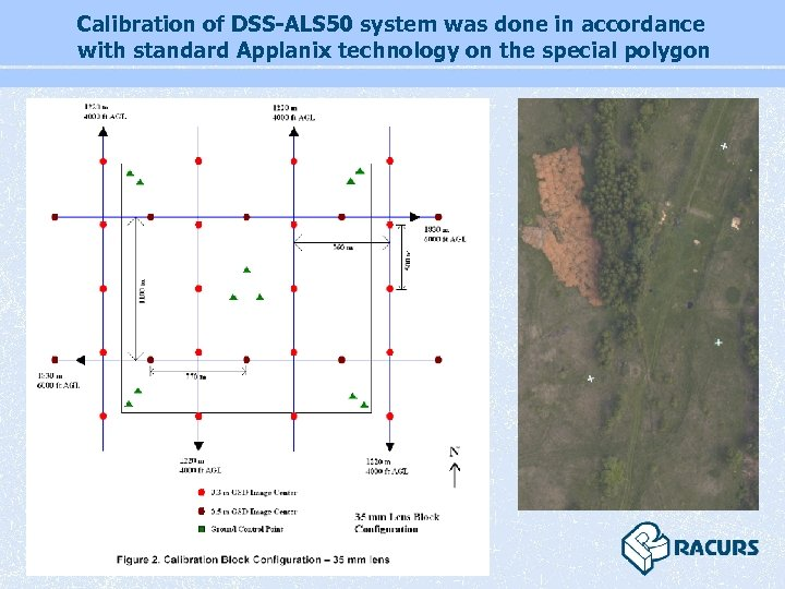 Calibration of DSS-ALS 50 system was done in accordance with standard Applanix technology on