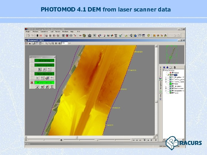 PHOTOMOD 4. 1 DEM from laser scanner data