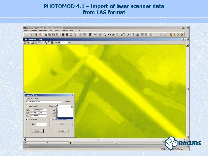 PHOTOMOD 4. 1 – import of laser scanner data from LAS format