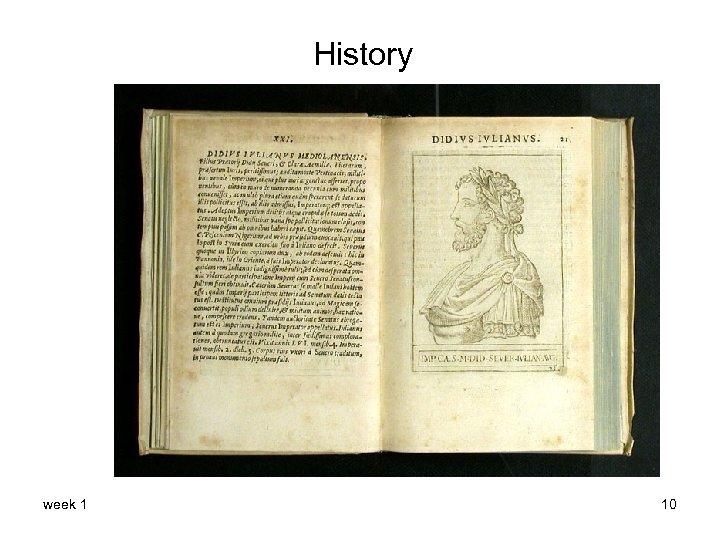 History week 1 10