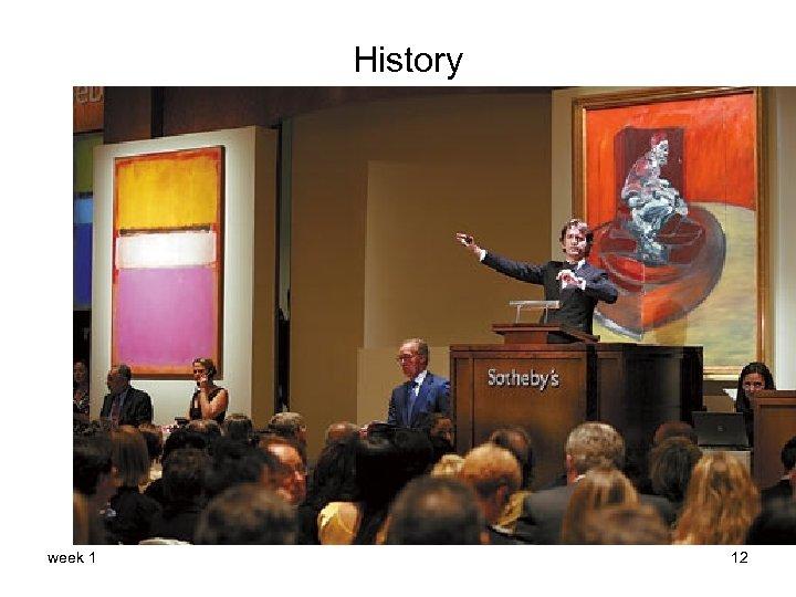History week 1 12