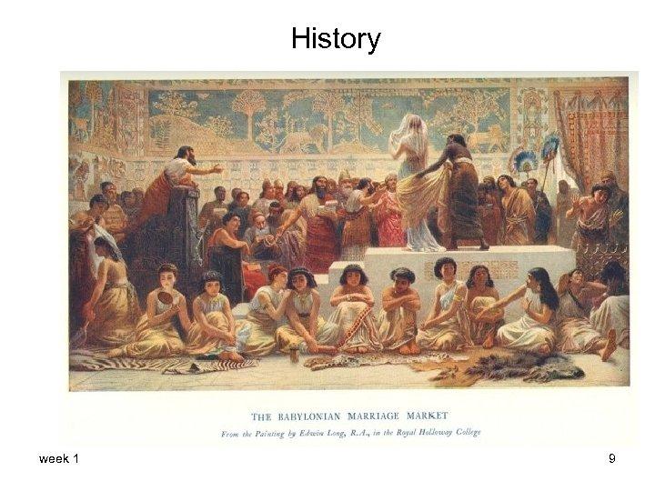 History week 1 9